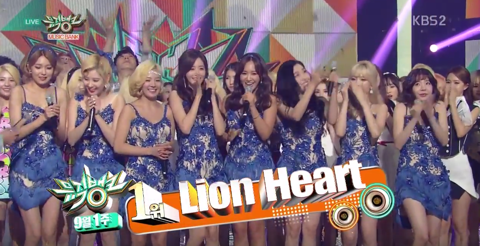 Girls' Generation sept 4 music bank win
