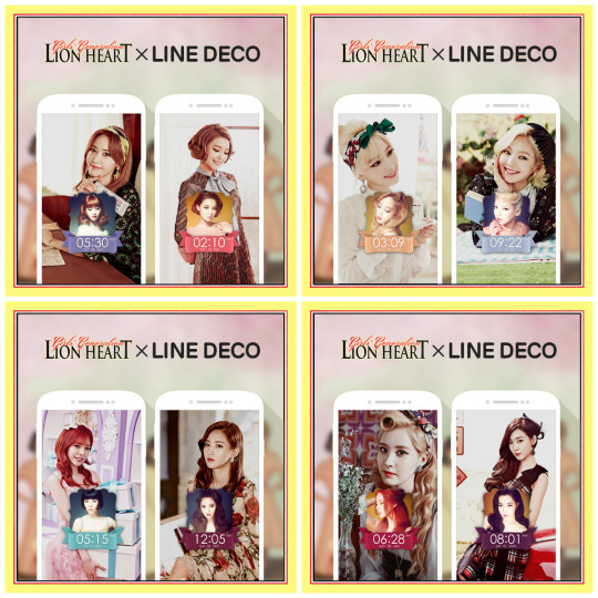collage SNSD Lion Heart