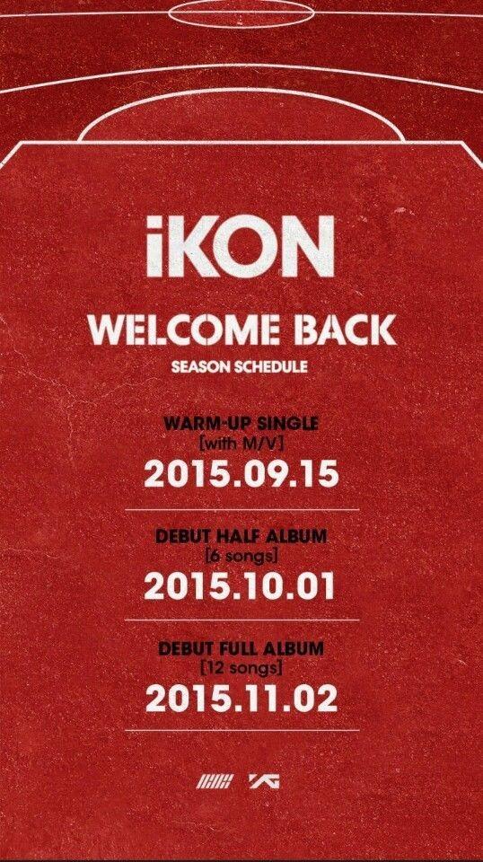 ikon debut schedule