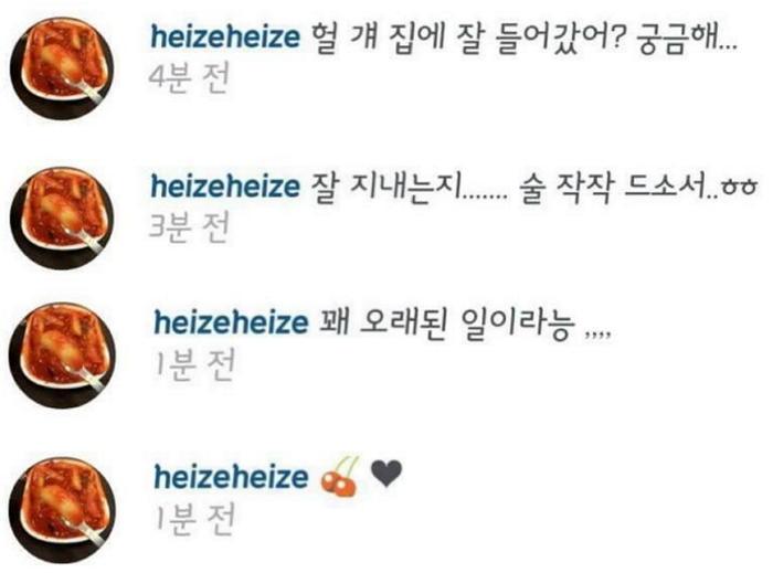 heize instagram
