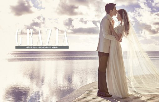 wedding ideas magazine forum han groo has a wedding pictorial with grazia soompi 28247