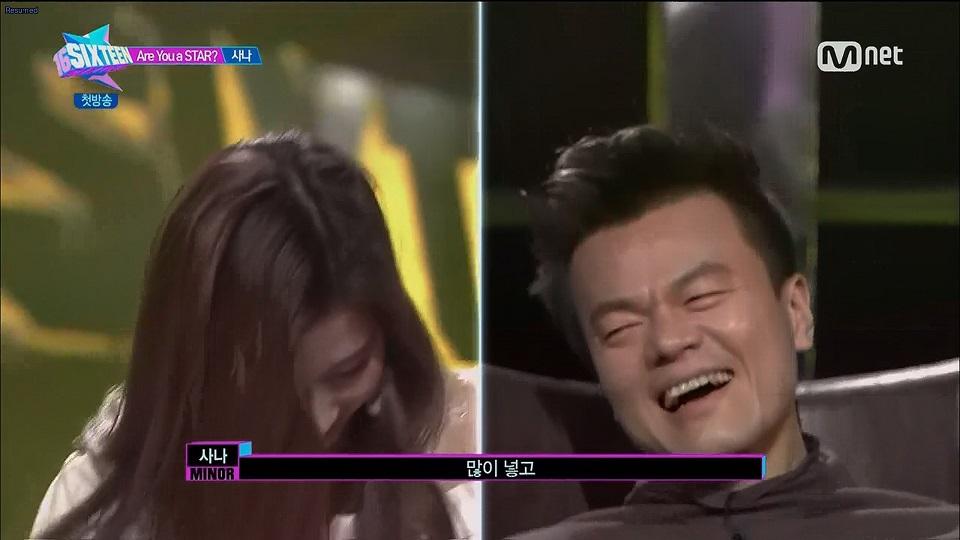 JYP's reaction to Sana
