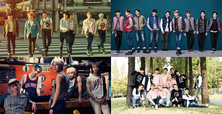 BTS EXO SHINEE SEVENTEEN