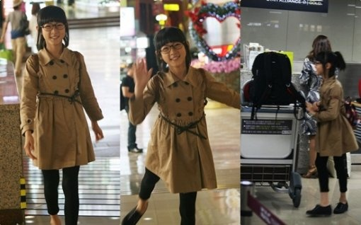 An adorable and sophisticated Kim Sae Ron is spotted in an airport.