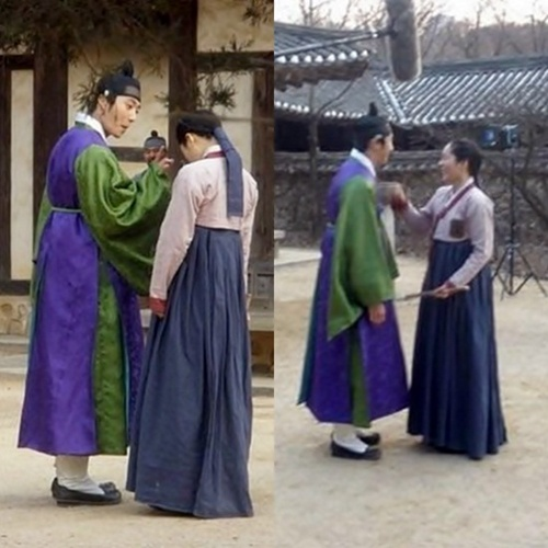 Jung Il Woo and Han Ga In Clown Around Between Filming ...