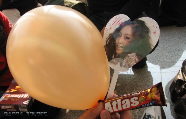 Goo Hara fan, Kara fan, Atlas candy. Gifts from the unofficial fanclub