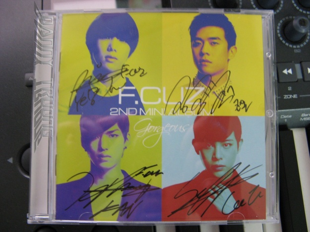 F.cuz Signed CD was given to us!